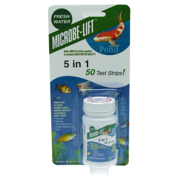 Microbe-Lift 5-In-1 Pond Test Kit (50 Strips)